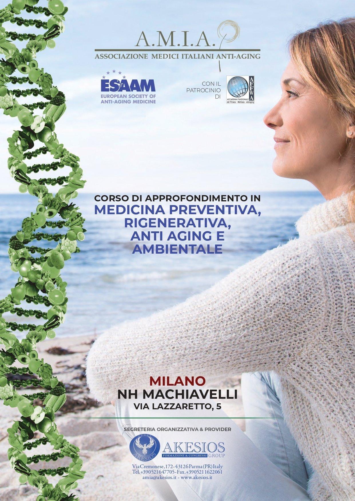 CORSO DI APPROFONDIMENTO IN MEDICINA PREVENTIVA, RIGENERATIVA, ANTI AGING E AMBIENTALE