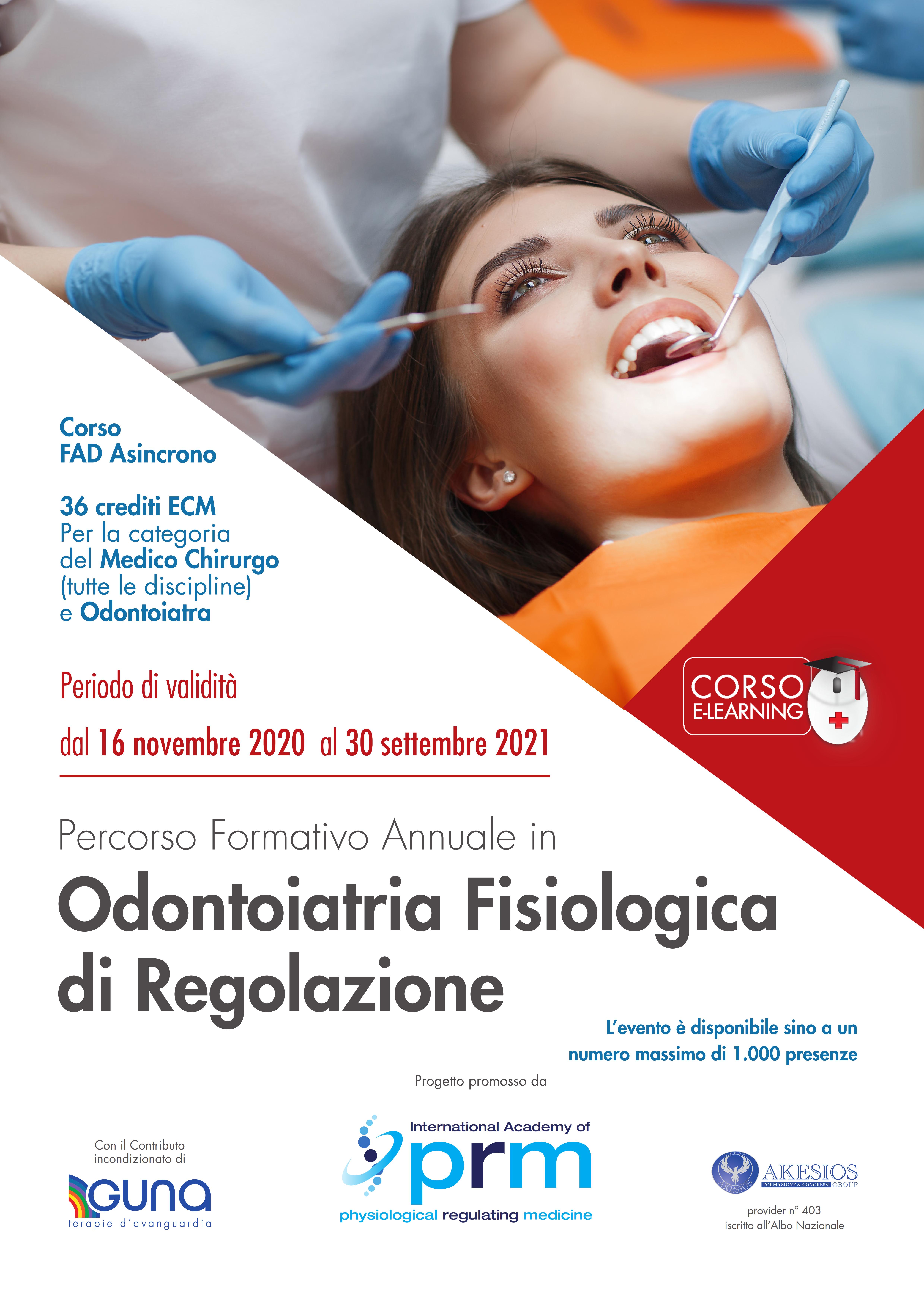 Percorso Formativo Annuale in Odontoiatria Fisiologica di Regolazione