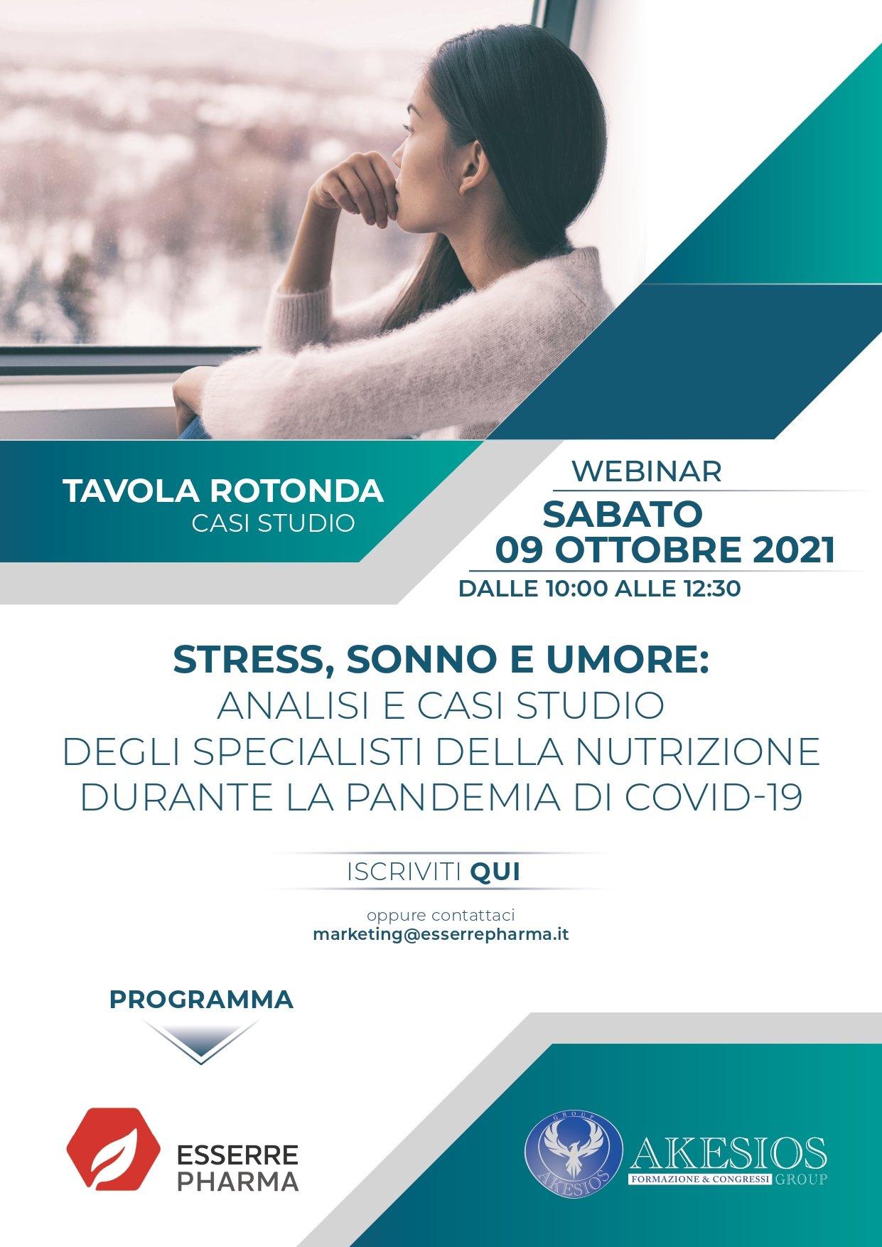 STRESS, SONNO E UMORE: ANALISI E CASI STUDIO DEGLI SPECIALISTI DELLA NUTRIZIONE DURANTE LA PANDEMIA DI COVID-19