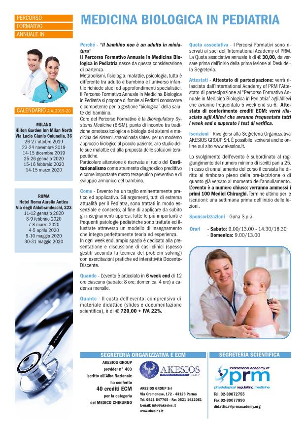 Percorso Formativo Annuale in Medicina Biologica in Pediatria